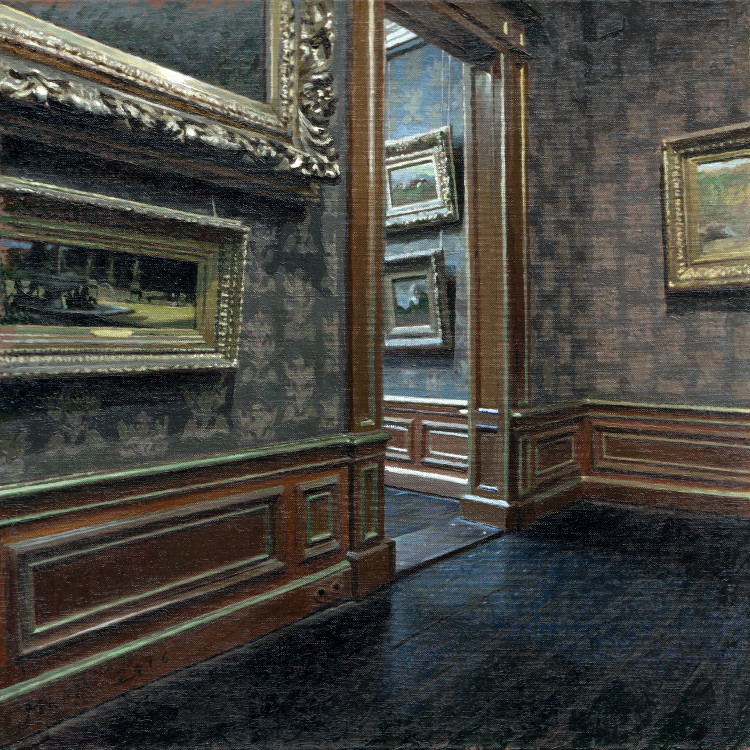 Museum, painting by Jan Maris