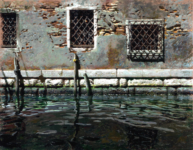 Windows at Canal, painting by Jan Maris