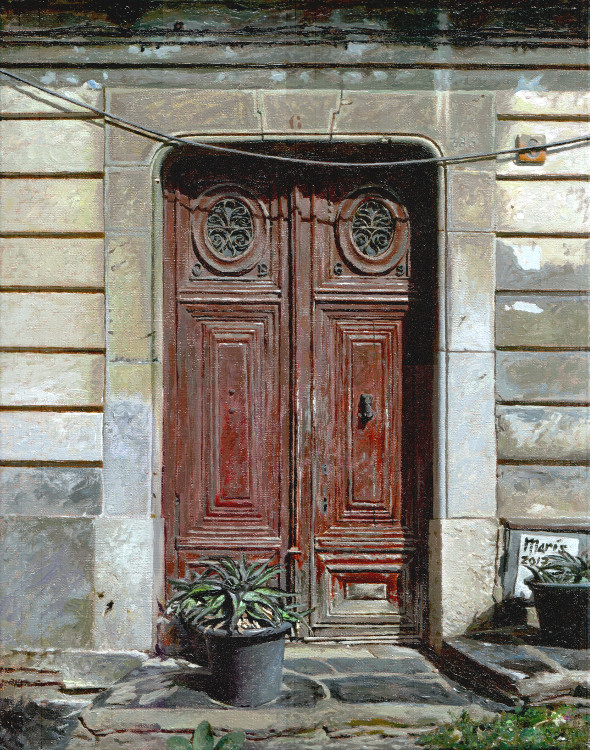 Door, painting by Jan Maris