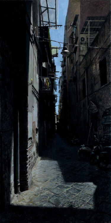 Narrow Street, painting by Jan Maris