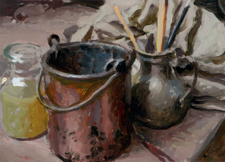 Copper Bucket, painting by Jan Maris