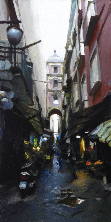 Narrow Street with Gate, painting by Jan Maris